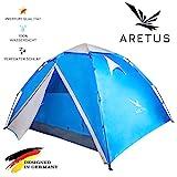 """Aretus- """"Eagle Tent"""" großes Pop Up Wurfzelt 2 3 4 Personen Zelt - mit Vorzelt - Wasserdicht 2 Fach Belüftet - UV-Schutz - Für Camping Festival mit 2 in 1 Funktion"""